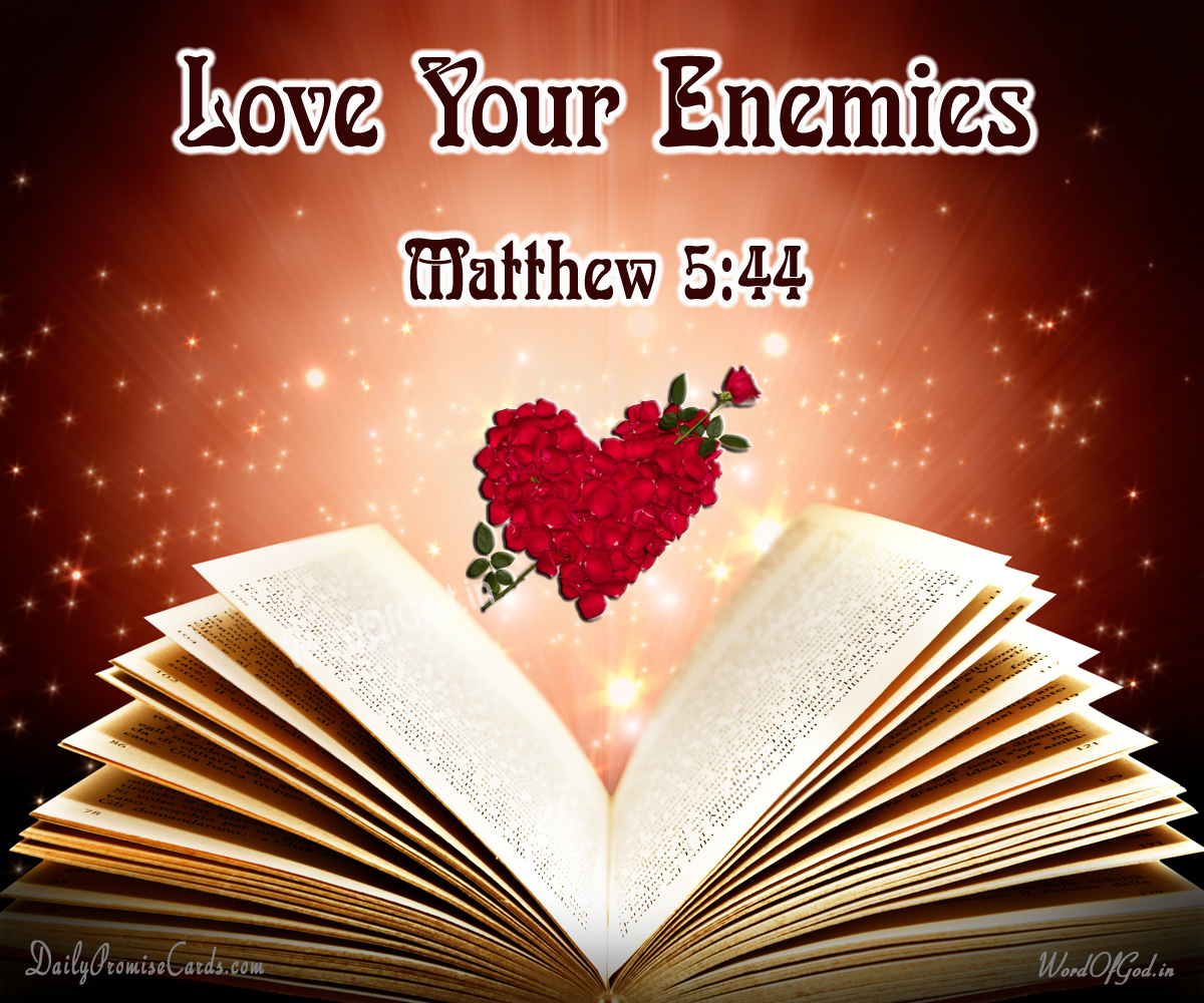 Matthew 5:44 – English Promise Card #27
