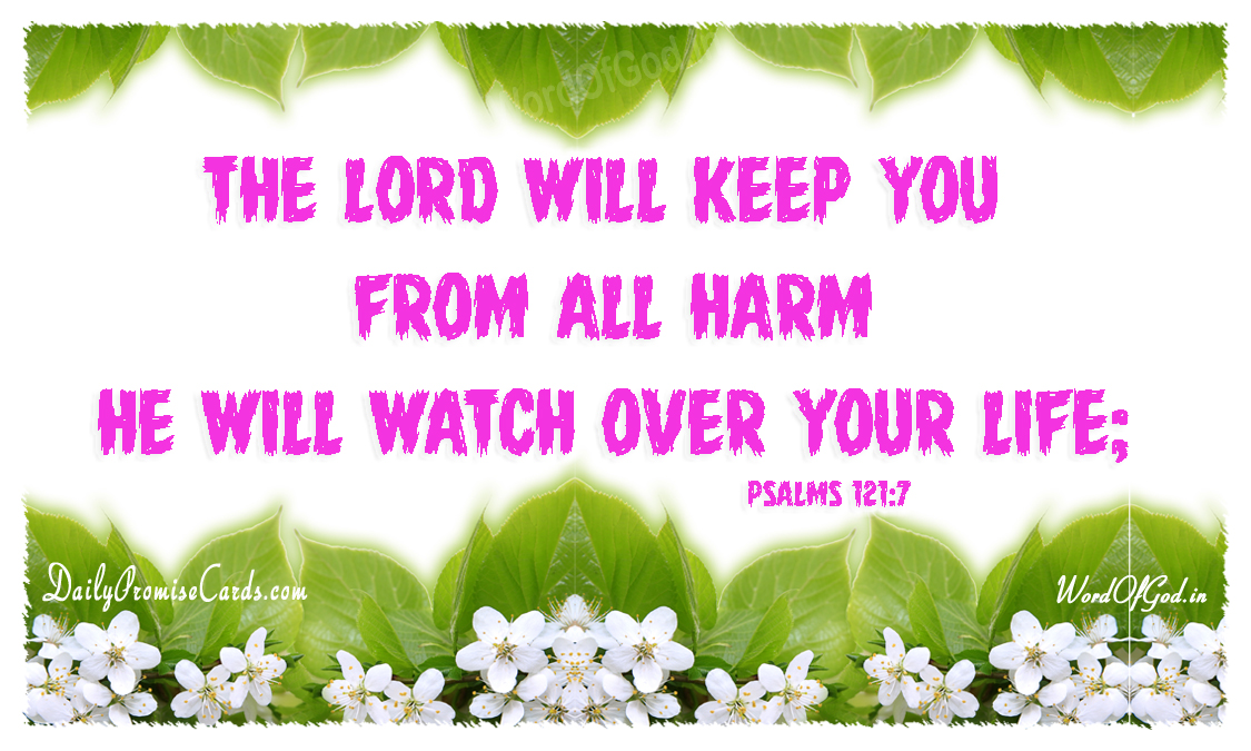 Psalms 121:7 – English Promise Card #33