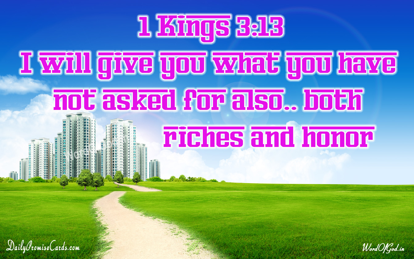 1 Kings 3:13 – English Promise Card #35